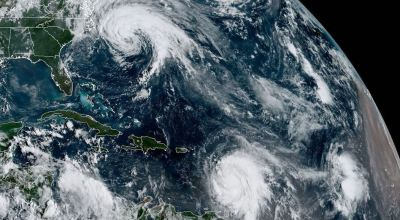 Hurricanes on display from space
