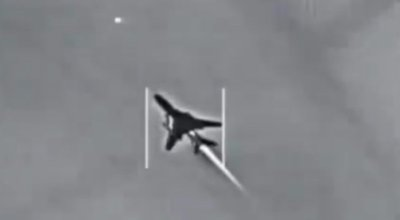 Here's the video of the Syrian fighter jet being shot down by a US Navy pilot in June