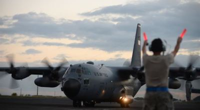 Watch: Air Force says goodbye to last active duty C-130H Hercules