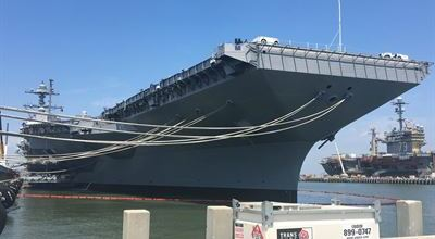 Watch: High Tech Methods Used When the USS Gerald R. Ford CVN 78 Departs Norfolk