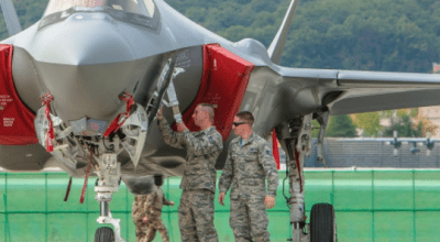 F-35A Makes Asian Debut as it Arrives in Seoul for ADEX 2017
