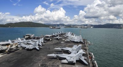 Picture of the day: Hornets in Hong Kong USS Ronald Reagan CVN 76