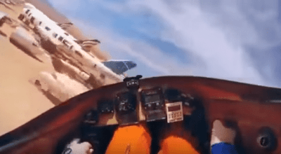 Watch: Experimental aircraft crashes – Wild ride somewhere in the desert!