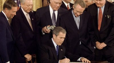 October 26, 2001, President George W. Bush Signs the Patriot Act