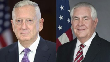 Mattis, Tillerson warn against removing current war authorization