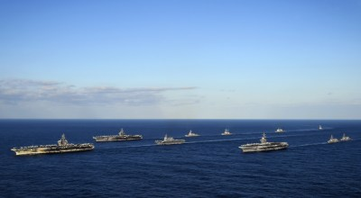 The 10 best pics from America's massive show of force off the coast of North Korea this weekend