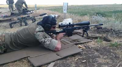 Training with the Ukrainian army's elite snipers