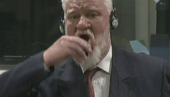 Watch: Former Bosnian Croat general drinks poison upon having 20 year sentence upheld