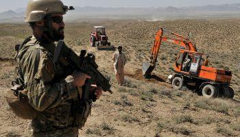 Albanian Commandos desert during NATO Exercise