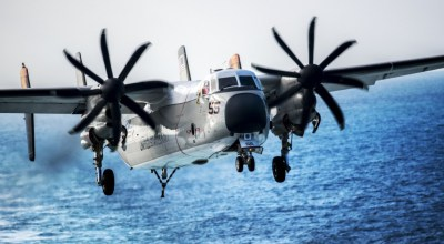 US Navy Calls Off Search for Three Missing Sailors from C-2A Aircraft Crash