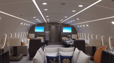Watch: Take a Tour of the World's Only Private Boeing 787 Dreamliner