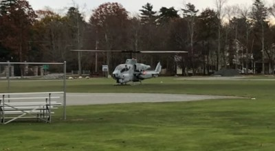 Marine leaves cell phone at the pub… lands helo across the street to grab it