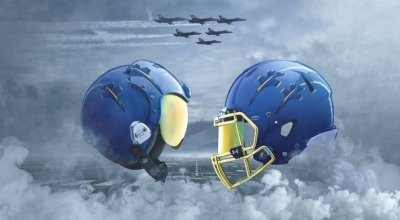 Naval Academy Football Team will Feature 'Blue Angels' Theme on their Helmets for Army-Navy Game