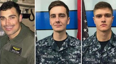 """US Navy Identifies Names of Missing Crew Members from Wednesdays C-2A """"Greyhound"""" Cargo Plane Crash"""