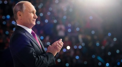 The world's most popular mass murderer: Putin announces re-election bid