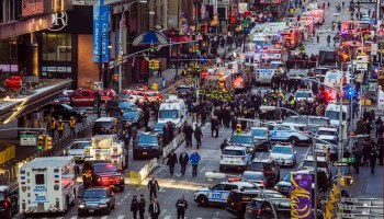 Footage shows NYC would-be bomber detonate device in crowded corridor