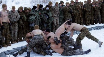 Look out Kim Jong Un, half-naked Marines are at your doorstep