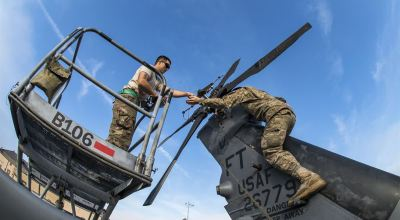 Picture of the Day: Airmen Work on HH-60G Pave Hawk Helicopter at Moody Air Force Base