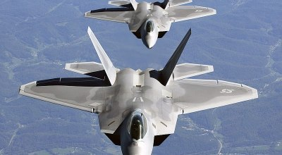 US Air Force F-22 Raptors Intercept a Pair of Russian Jets in Syria