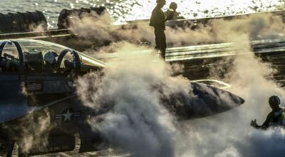 Picture of the Day: F/A-18F Super Hornet Prepares to Launch from the USS Theodore Roosevelt