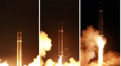 North Korea doctors the photos of their Hwasong-15, but experts aren't sure why