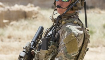 Loadout Room photo of the day: A member of Air Force Special Operations, assigned to the 23rd Special Tactics Squadron, provides security during a combat search and rescue exercise