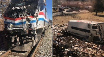 Breaking: Amtrak train carrying Republican lawmakers collides with garbage truck