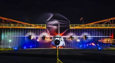 Picture of the Day: Coast Guard HC-130 Hercules Receives a Wash Down