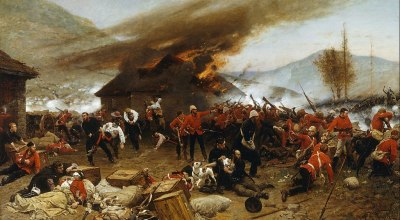 The Battle of Rorke's Drift January 1879 Between the British and Zulu