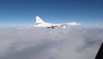 Watch: Cockpit footage of RAF Typhoons intercepting Russian bombers on Monday