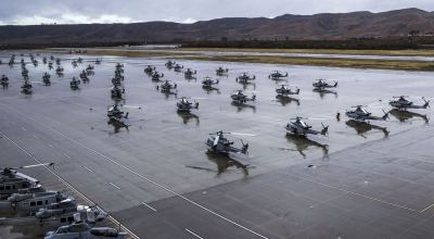 Picture of the Day: Yes it Does Rain in Sunny California – Flightline at Marine Corps Air Station Camp Pendleton