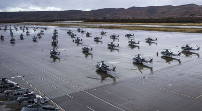 Yes it does rain in sunny California – Flightline at Marine Corps Air Station Camp Pendleton