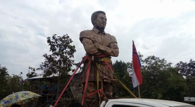 Burmese military continuously blocks Karen statue from being built