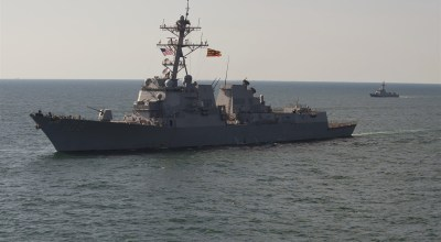 US Navy and Russia both send warships to the Black Sea as tensions continue to escalate