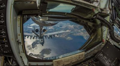 Picture of the Day: Indiana Air National Guard A-10 Thunderbolt II Refuels off a KC-135 Stratotanker
