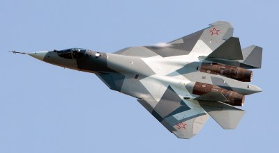 New footage appears to show Russia's experimental 5th generation fighter arriving in Syria