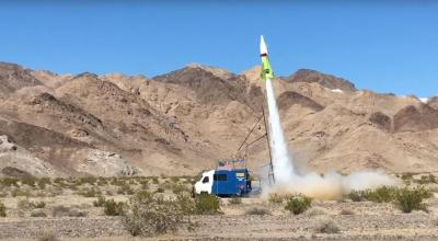 Rocket Man: Flat earther launches himself in steam powered rocket and lives to tell the tale