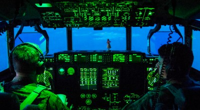 Picture of the Day: Air Force C-130 Hercules Pilots Prepare to Land in Afghanistan