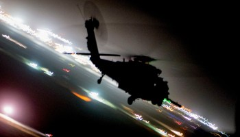 Air Force HH-60G Pave Hawk on a Training Mission During Resolute Support