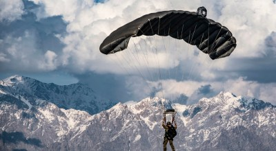Picture of the Day: Air Force Pararescueman Performing a High-altitude Free fall Jump
