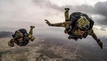 Airmen Conduct High-altitude, Low-opening Free-fall Jump over Afghanistan