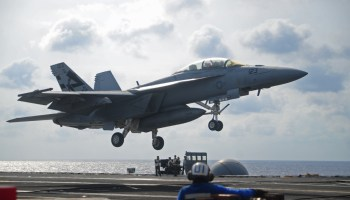 Navy's ATARI system successfully lands fighter on an aircraft carrier via remote control