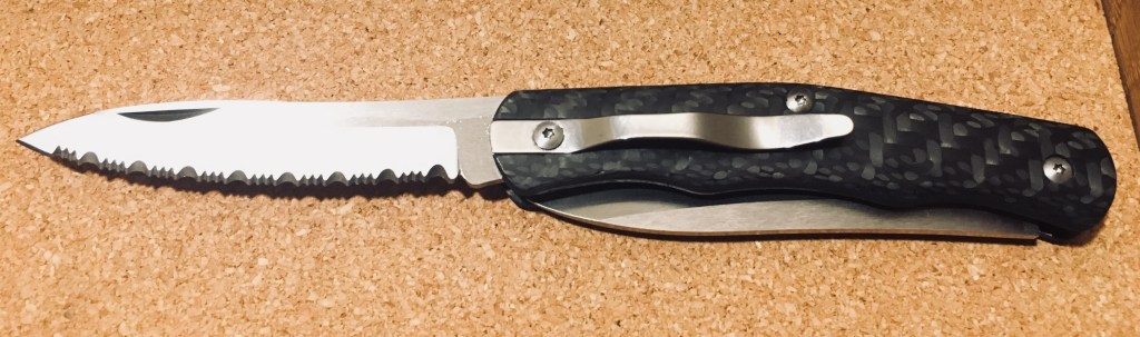 Carbon fiber and steel: Cold Steel Lucky twin blade pocket knife