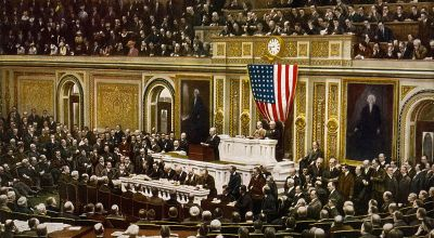 April 4, 1917, US Senate Approves Declaration of War With Germany