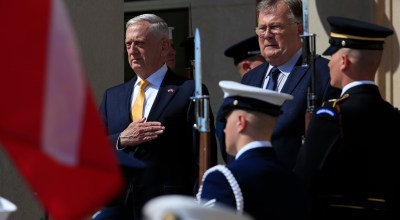 Secretary of Defense Mattis meets with Danish Minister of Defence