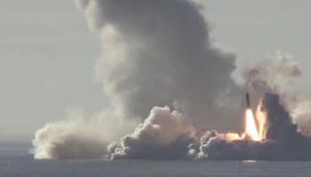 Watch: Russia's newest missile sub just launched four nuclear missiles in just 15 seconds