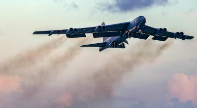 Picture of the Day: Air Force B-52H Stratofortress Taking Off From Andersen Air Force Base in Guam