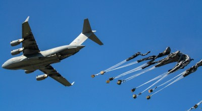 Picture of the Day: C-17 Drops Equipment for the 173rd Airborne Brigade Combat Team