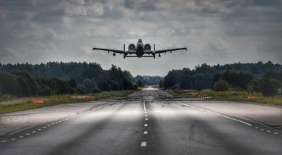 Warthog pilots practice highway landings in Europe in preparation for conflict with Russia