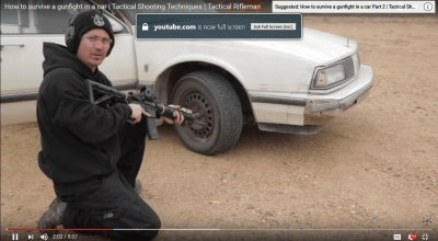How to Survive a Gunfight in a Car: Tactical Rifleman's Shooting Techniques Video